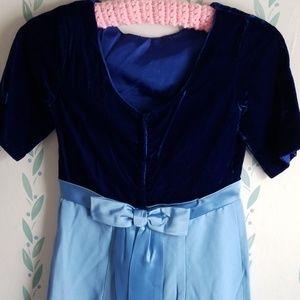 Vintage 50's Blue Prom Dress